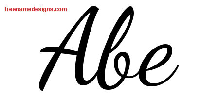 Lively Script Name Tattoo Designs Abe Free Download