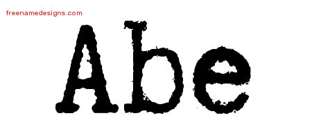 Typewriter Name Tattoo Designs Abe Free Printout
