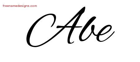 Cursive Name Tattoo Designs Abe Free Graphic