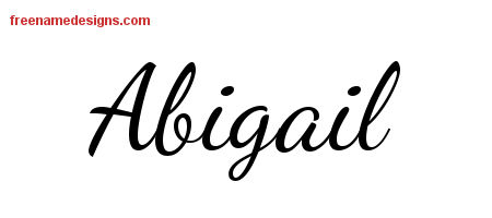 ... Stylish Name Tattoo Designs Abigail Download Free - Free Name Designs