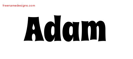 Groovy Name Tattoo Designs Adam Free