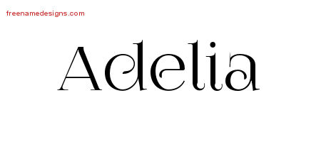 Vintage Name Tattoo Designs Adelia Free Download
