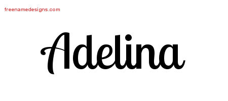 Handwritten Name Tattoo Designs Adelina Free Download