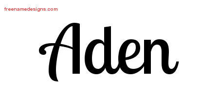Handwritten Name Tattoo Designs Aden Free Printout