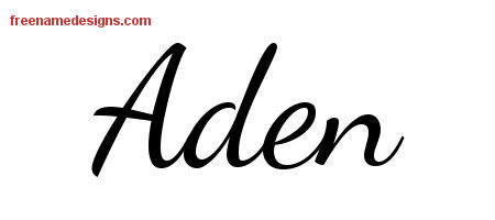 Lively Script Name Tattoo Designs Aden Free Download