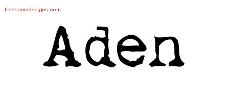 Vintage Writer Name Tattoo Designs Aden Free