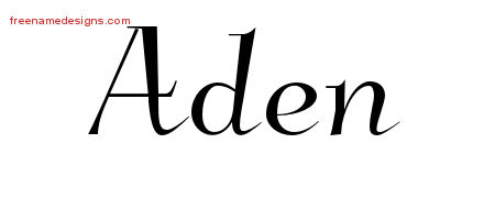 Elegant Name Tattoo Designs Aden Download Free