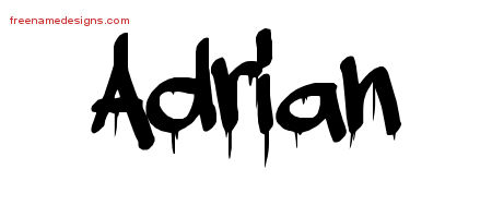 Graffiti Name Tattoo Designs Adrian Free Free Name Designs