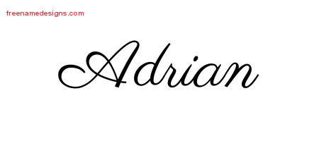 Classic Name Tattoo Designs Adrian Graphic Download Free Rh Freenamedesigns Com