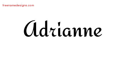 Calligraphic Stylish Name Tattoo Designs Adrianne Download Free