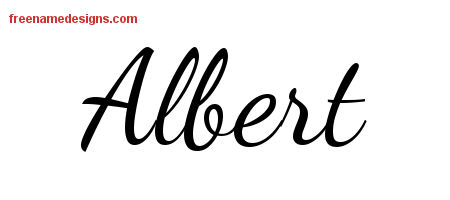 Lively Script Name Tattoo Designs Albert Free Printout