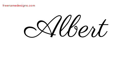 Classic Name Tattoo Designs Albert Graphic Download