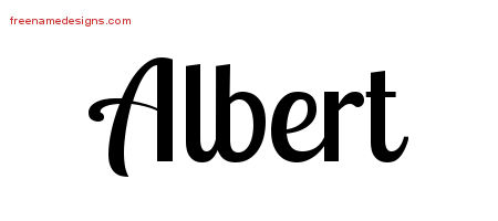 Handwritten Name Tattoo Designs Albert Free Download