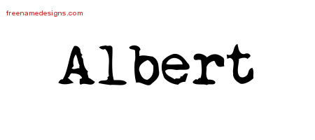 Vintage Writer Name Tattoo Designs Albert Free