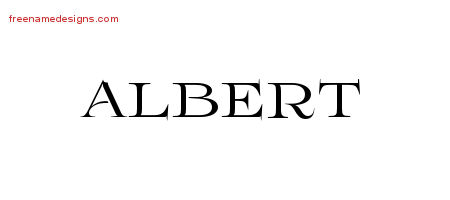 Flourishes Name Tattoo Designs Albert Graphic Download