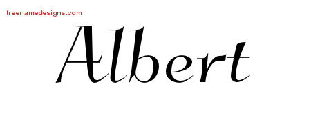 Elegant Name Tattoo Designs Albert Download Free