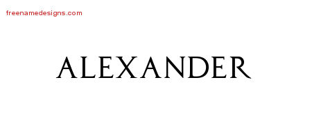 Regal Victorian Name Tattoo Designs Alexander Graphic Download