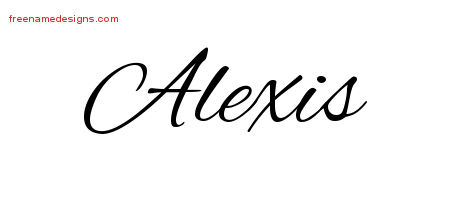 Cursive Name Tattoo Designs Alexis Free Graphic