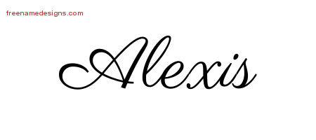 Classic Name Tattoo Designs Alexis Graphic Download
