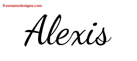 Lively Script Name Tattoo Designs Alexis Free Download