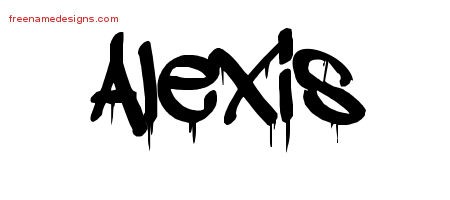 Graffiti Name Tattoo Designs Alexis Free Lettering
