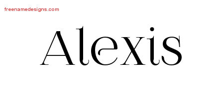 Vintage Name Tattoo Designs Alexis Free Printout