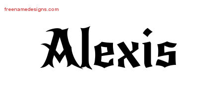 Gothic Name Tattoo Designs Alexis Download Free