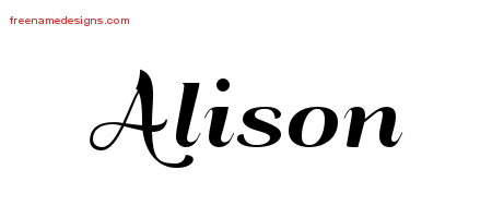 alison Archives - Free Name Designs