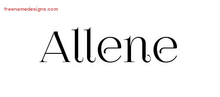 Vintage Name Tattoo Designs Allene Free Download