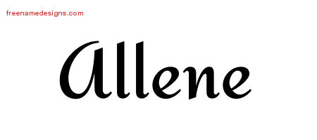 Calligraphic Stylish Name Tattoo Designs Allene Download Free