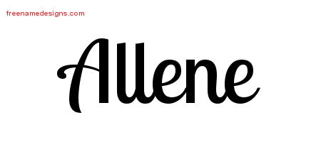 Handwritten Name Tattoo Designs Allene Free Download