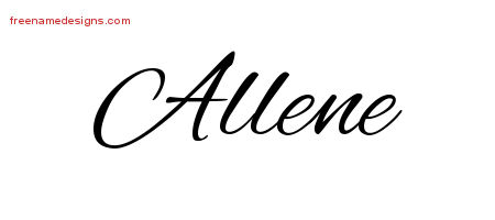 Cursive Name Tattoo Designs Allene Download Free