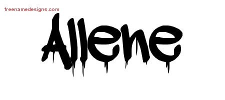 Graffiti Name Tattoo Designs Allene Free Lettering