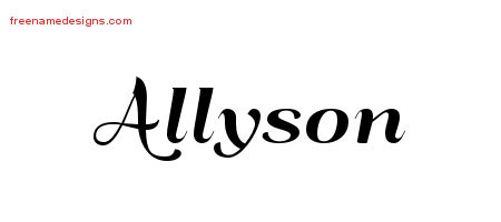 Allyson Tattoo Designs