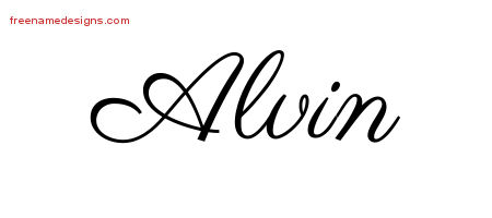 Classic Name Tattoo Designs Alvin Printable
