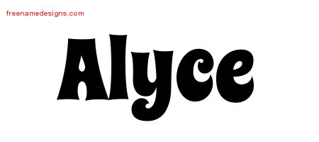 Groovy Name Tattoo Designs Alyce Free Lettering