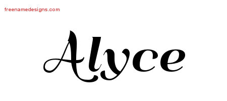 Art Deco Name Tattoo Designs Alyce Printable