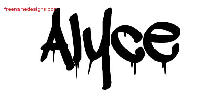 Graffiti Name Tattoo Designs Alyce Free Lettering