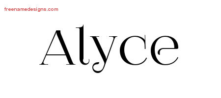 Vintage Name Tattoo Designs Alyce Free Download