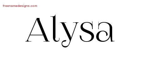 Vintage Name Tattoo Designs Alysa Free Download