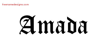Blackletter Name Tattoo Designs Amada Graphic Download