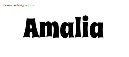 Groovy Name Tattoo Designs Amalia Free Lettering