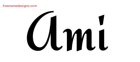 Calligraphic Stylish Name Tattoo Designs Ami Download Free