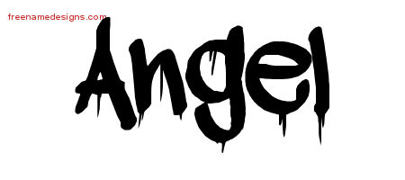 Graffiti Name Tattoo Designs Angel Free