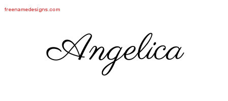 angelica archives free name designs. Black Bedroom Furniture Sets. Home Design Ideas