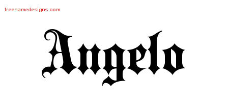 Old English Name Tattoo Designs Angelo Free