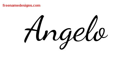Lively Script Name Tattoo Designs Angelo Free Printout