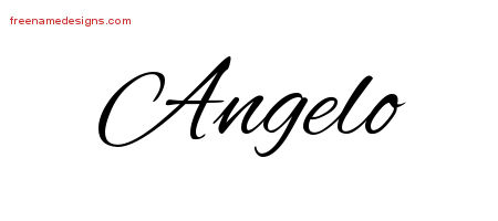 Cursive Name Tattoo Designs Angelo Download Free