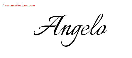 Calligraphic Name Tattoo Designs Angelo Free Graphic