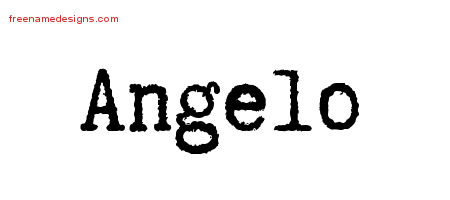 Typewriter Name Tattoo Designs Angelo Free Download